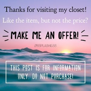 Offers welcome! (Info only! Don't buy this post!)